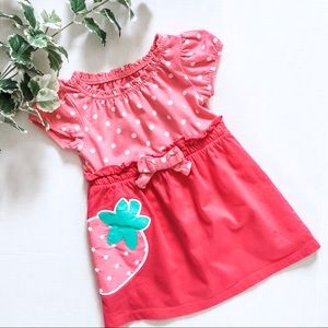 Circo Dress Strawberry Patch Polka Dot Pink 12M
